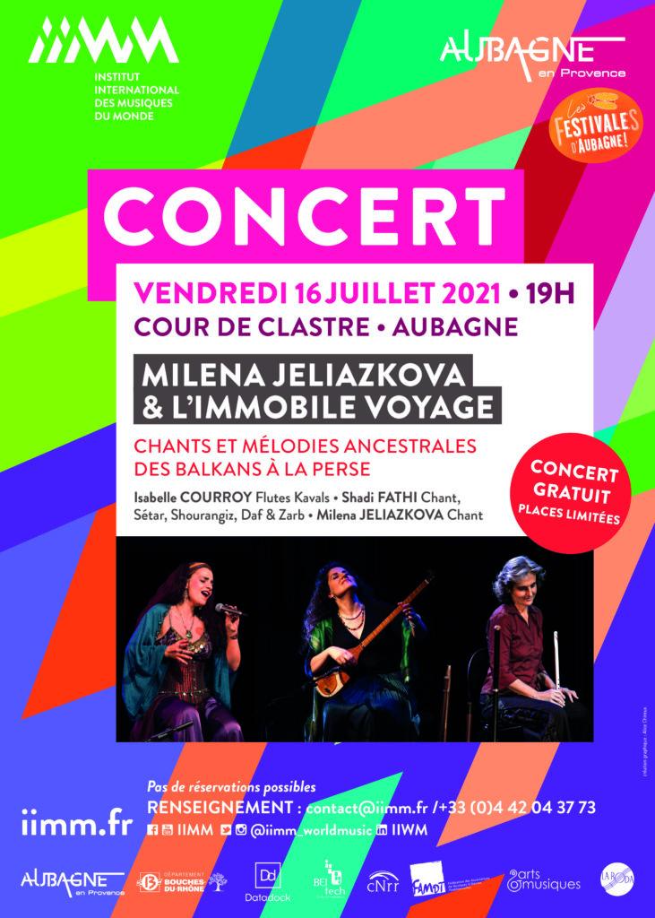 affiche concert Milena Jeliazkova & l'immobile voyage