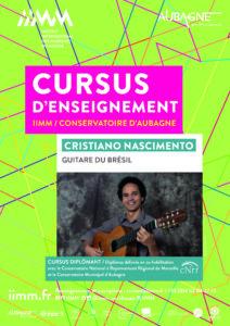 cursus d'enseignement IIMM 2021/2022 Cristiano NASCIMENTO Guitare du Brésil