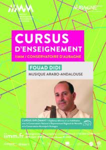cursus d'enseignement IIMM 2021/2022 Fouad DIDI Musique arabo-andalouse