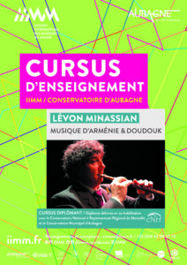 cursus d'enseignement IIMM 2021/2022 Lévon MINASSIAN Musique d'Arménie et doudouk