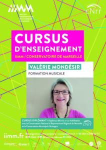 cursus d'enseignement IIMM 2021/2022 Valérie MONDESIR formation musicale
